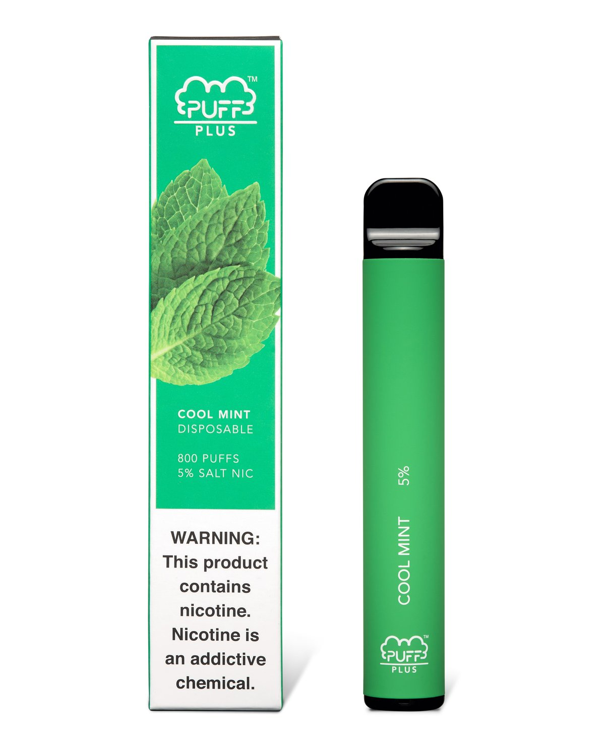 Cool Mint Puff Bar Plus - for a refreshing cool sesation for all the Mint lovers, mixed with menthol to add sweetness that is both refreshing and smooth. Now in Puff Bar Plus form you can get more than double the puffs for even more value.